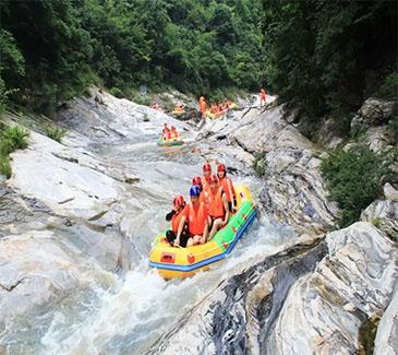 白云峡瀑布群、玻璃桥、霍山大峡谷漂流一日游
